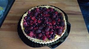 Torta s lesným ovocím