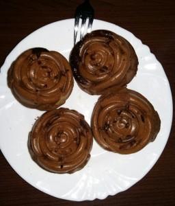 Čokoládové ružičky